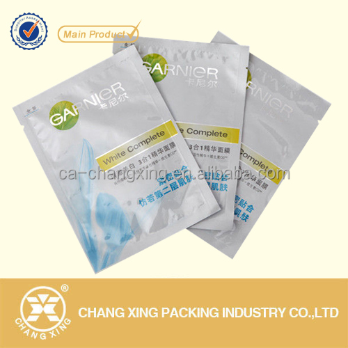 Printed Laminated Foil Face Mask Pouch/ Facial Mask Pouch