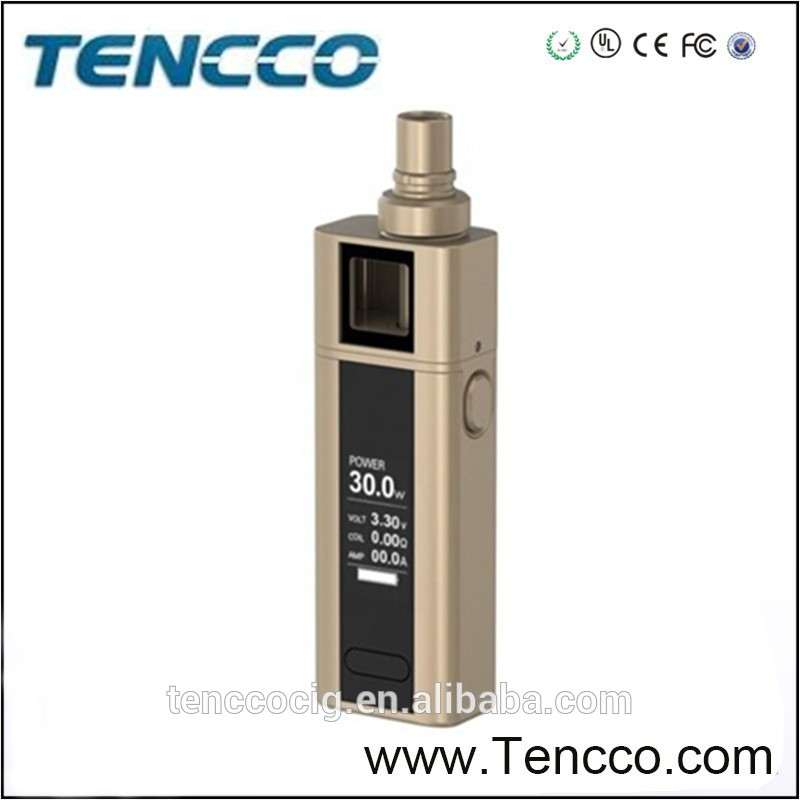 2016 Tencco new arrival bulk e cigarette purchase cuboid joyetech cuboid mini 80w kit