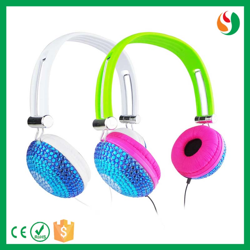 Aibaba best earphone factory diamond headphone