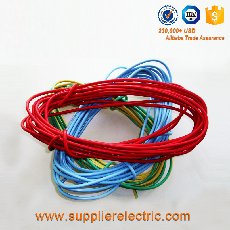 CCA Material PVC Insulated Solid Single Core Electrical Wire BV Power Cable