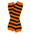 Orange and black stripe baby leg warmer halloween design cotton leg warmer for kids