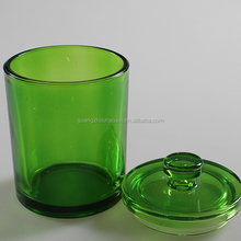 Unbleached glass green food storage jars wide mouth jars and bottles for food