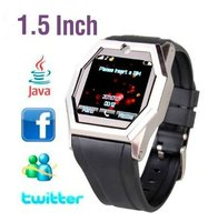 "New Design 1.5"" Unlocked Quadband Watch Phone(Touch screen,Camera, Bluetooth)(WP-TW520)"