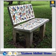 chinesen supplier cheap mosaic garden bench tops