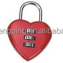 Combination Locks In Heart Shape (J-8026)