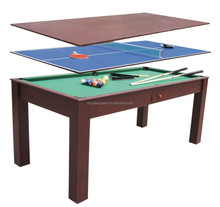 3-in-1 pool table and air hockey table