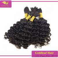 no weft human hair bulk for braiding wavey hair 7a 100% human hair in bulk