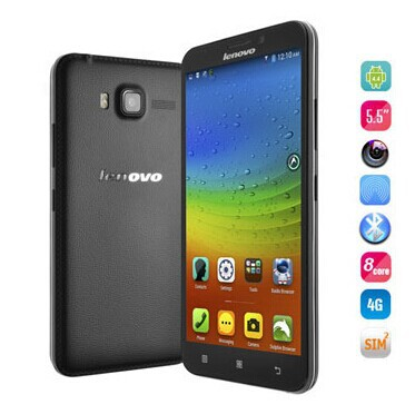 Original 4G FDD-LTE Lenovo A916 phone with 5.5 Inch Android 4.4 MTK6592 RAM 1GB ROM 8GB phone