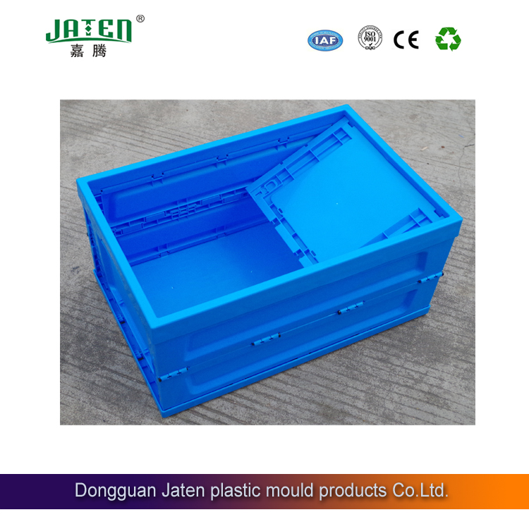 EU plastic turnover box foldable save space