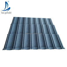 Eco-friendly Indonesia market solar tile roof building materials color sand coated durable unfade light grey slate roofing tiles