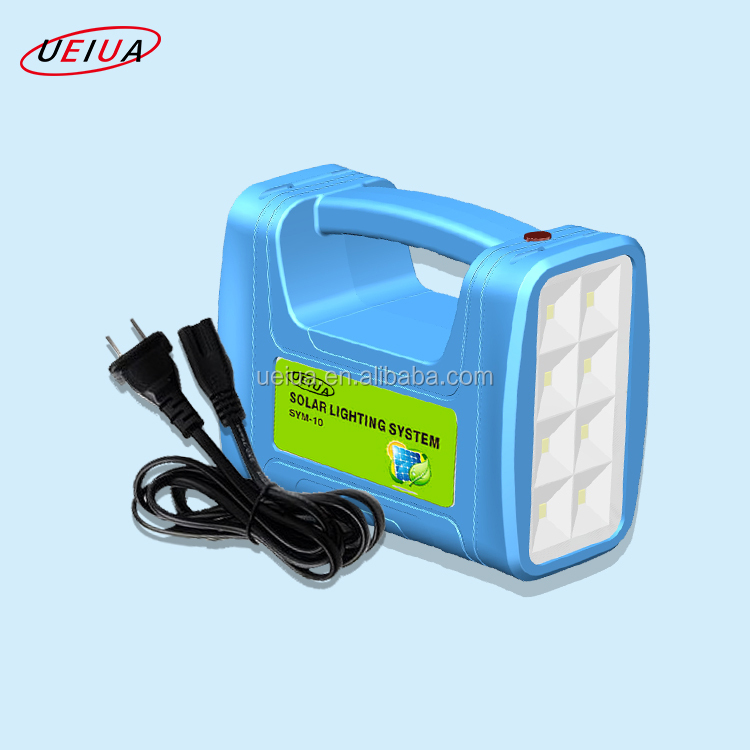 China Manufacturer 3w 5W Portable Solar Power System with Lithium battery LED light MP3 player for camping and home use