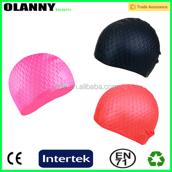 poly bag swimming sport wholesale waterproof new design paint for silicone swimming cap