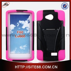 Dual Layer Hybrid Cell Phone PC Silicone Combo Case for LG F60 LS660