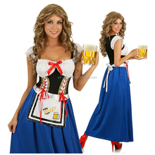 Sexy Fancy Dress Women Party Bavarian Lady Octoberfest Festival Germany Maid Beer Costume