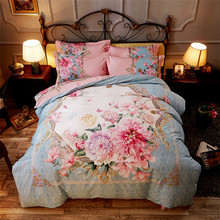 beautiful print 3D Flower pattern comfort quilt Bedding cover Bed sheet