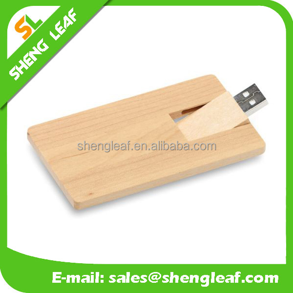 Wooden Gift Business USB card for gifts