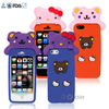 3d silicon animal case for iphone 4,3d silicon animal case for iphone 5