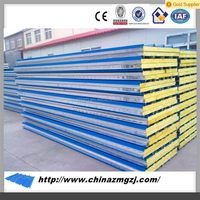 low price rockwool sandwich panel /rock wool fireproof insulation sandwich panel building materials construction materials