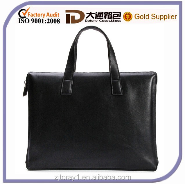 Black Wholesale Leather Briefcase Security Briefcase With Secret Compartment