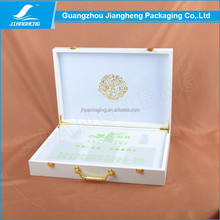Guangzhou factory wholesale leather hinged gift packaging box