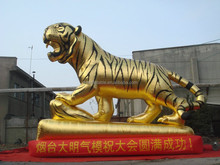 customized Chinese style golden giant inflatable tiger for decoration
