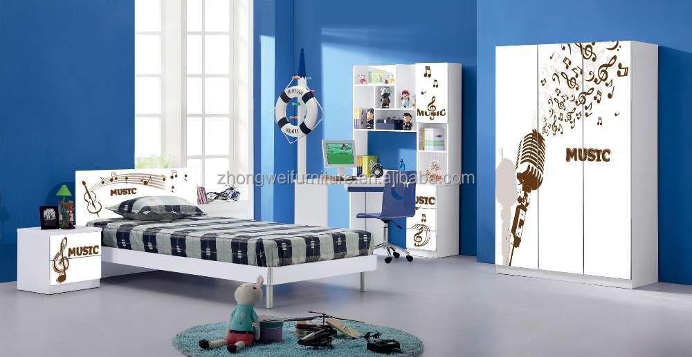 High quality board bedroom furniture with music painting for Where to buy quality bedroom furniture