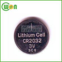 Lithium 3 volts button batteries cr 2032 3V lithium coin cell