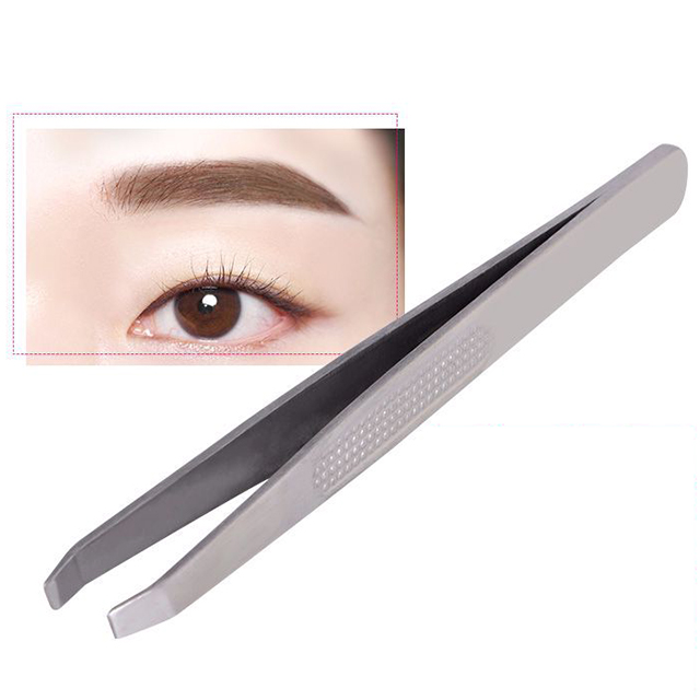 Private label eye makeup lady professional eyebrow tweezers
