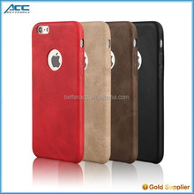 Super thin mobile phone leather case for iphone 6s pu leather back cover