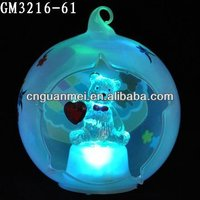 Wholesale LED christmas decoration ball and little bear inside
