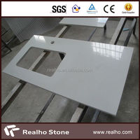 Artificial Kitchen Bathroom White Sparkle Quartz Stone Countertop