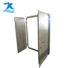 Factory price double leaf steel purpose of fire doors