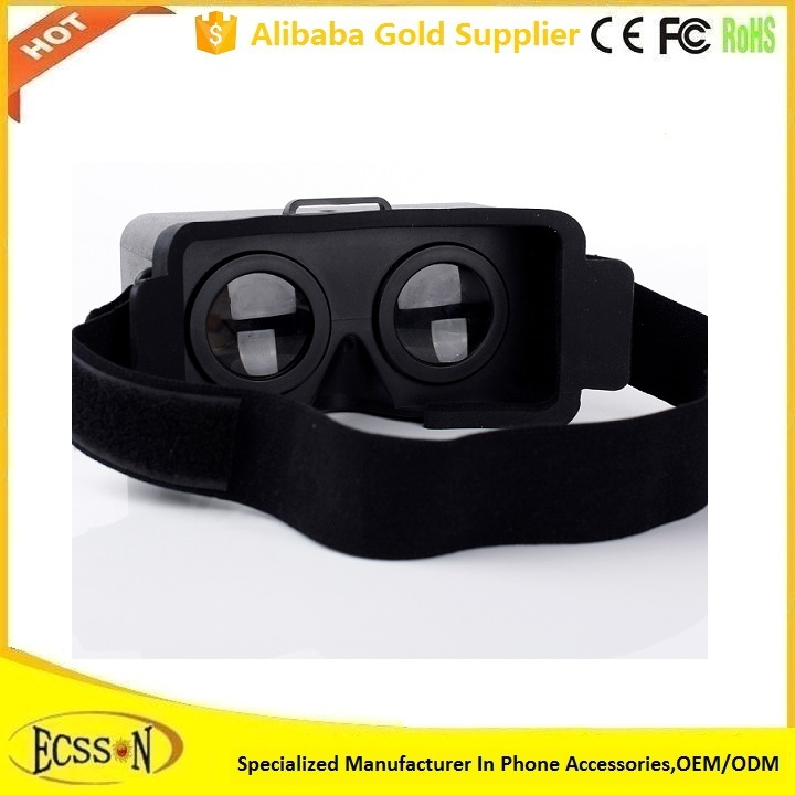 2016 Promotional vr 3d glasses , vr case , vr headset for enjoying amazing 3d experience at home