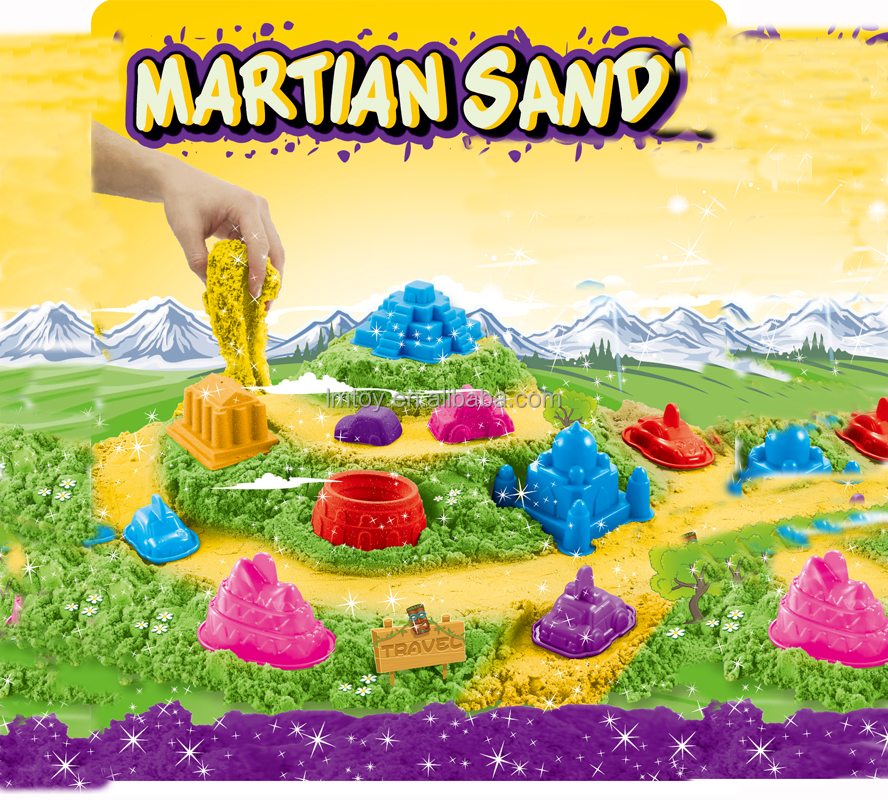 750g Soft martion sand toy supplier 3D magic sand world for kid's education
