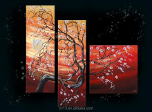 hotel decor 3pcs panel wall art painting with tree landscape