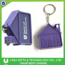 Measure Tape Promotional Plastic Key Tag