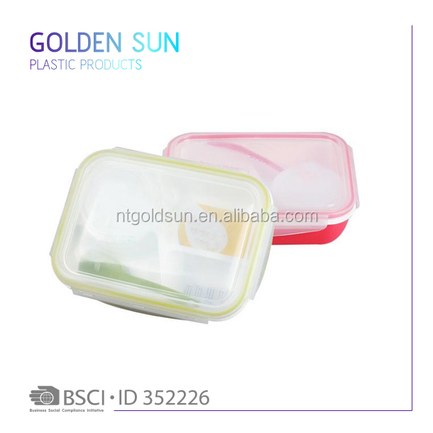 plastic one time use 4 compartment food containers