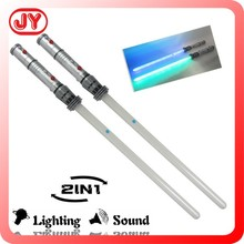 2015 most popular 2 in 1 flashing space toy sword with EN71