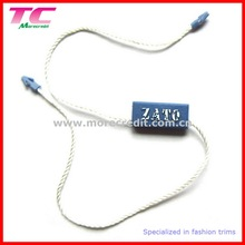 custom plastic string hang tag for clothing