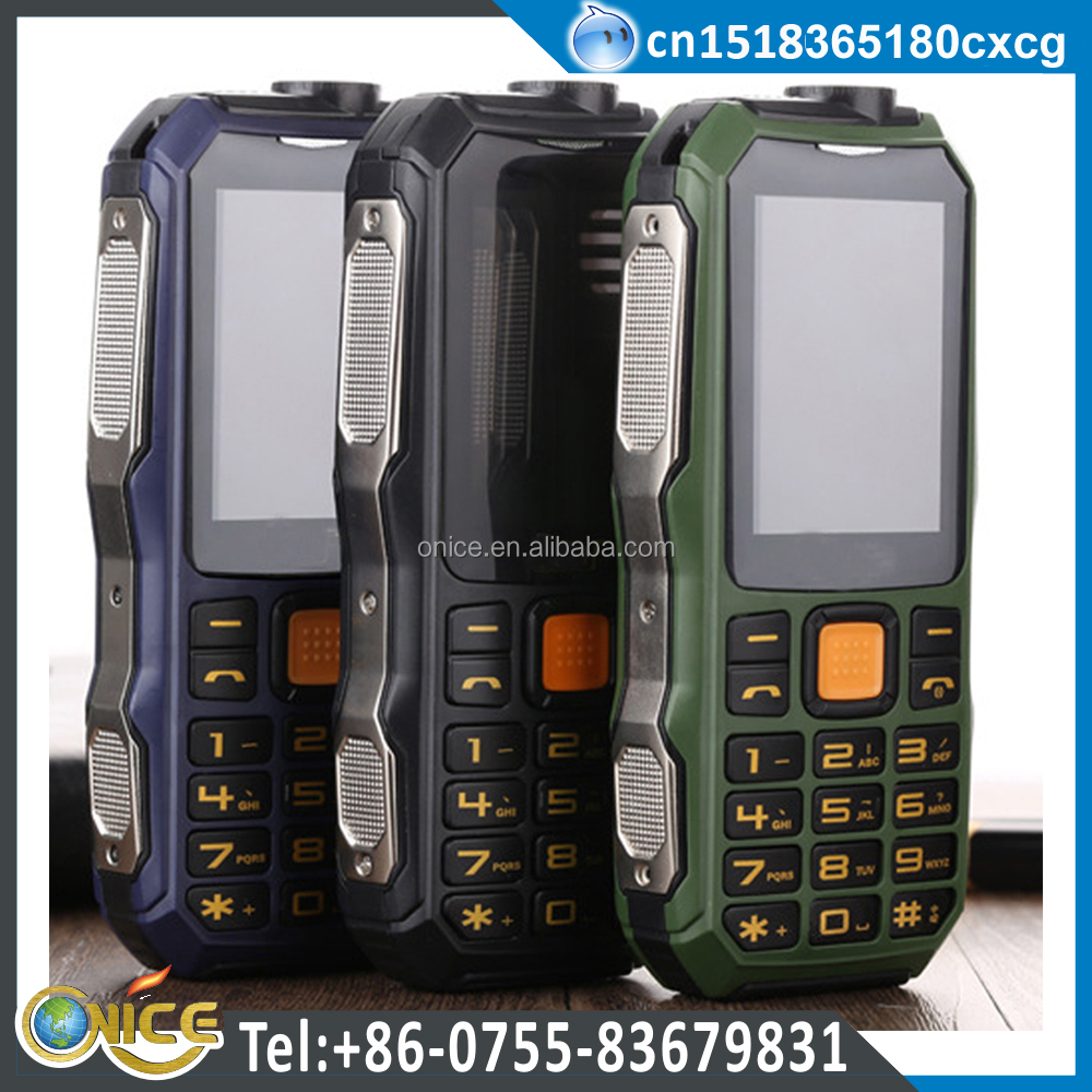 Low price china TV mobile phone D1000 GSM quad band unlocked rugged torch old people cell