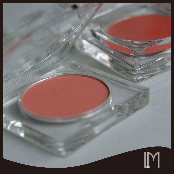 Wholesale pink color OEM color single baked eyeshadow
