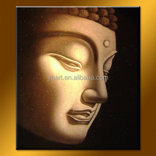 Popular Home Decoration Goods Buddha Head Oil Painting
