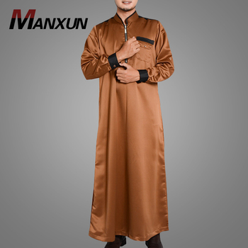 New Design Hot Selling Grown Jubba Muslim Men's Wear Wholesale High Quality Arabic Kaftan Jilbab Long Sleeve Daffah Thobe