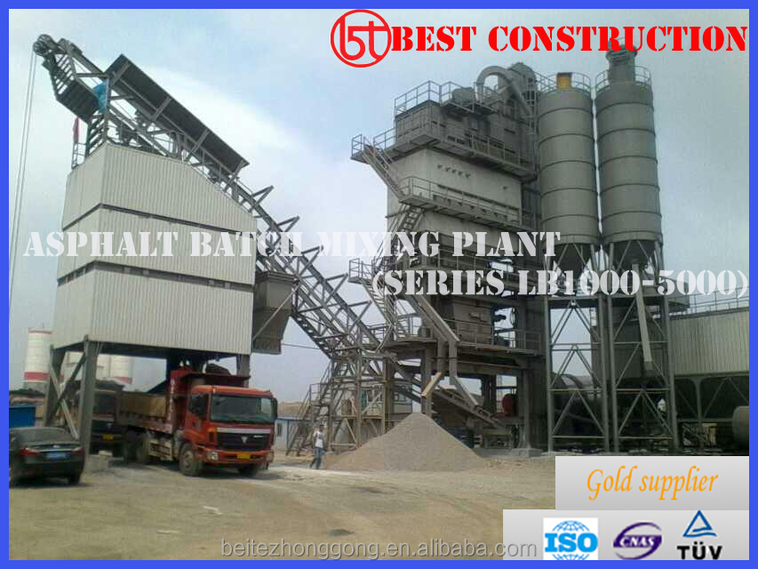 High Quality 80t/h asphalt batch plant with ISO