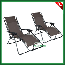 Steel Frame Zero Gravity Recliner Chiar Folding Arm Office Leisure Chairs With Pillow