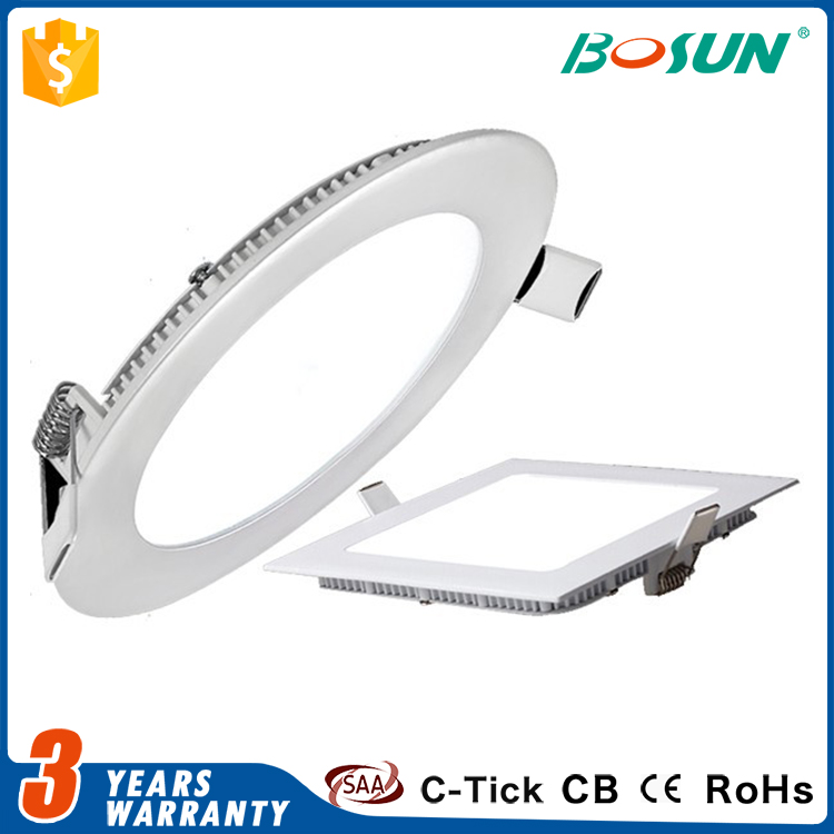 high lumen dimmable 3w 6w 9w 12w 15w 18w 24w round led panel downlight