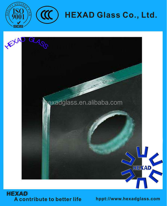 High quality 6mm tempered glass price with holes