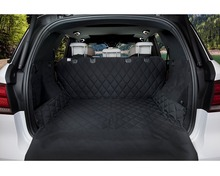 Luxury Pet Car Seat Cover Pet Cargo Cover for Cars, Trucks, and Suv's - Black WaterProof & NonSlip Flap Protection barksbar