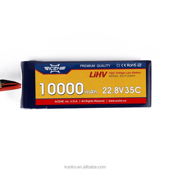 ACEHE 22.8V 10000mAh 35C 6S1P 228Wh High Voltage Powerful Rechargeable Lipo Battery
