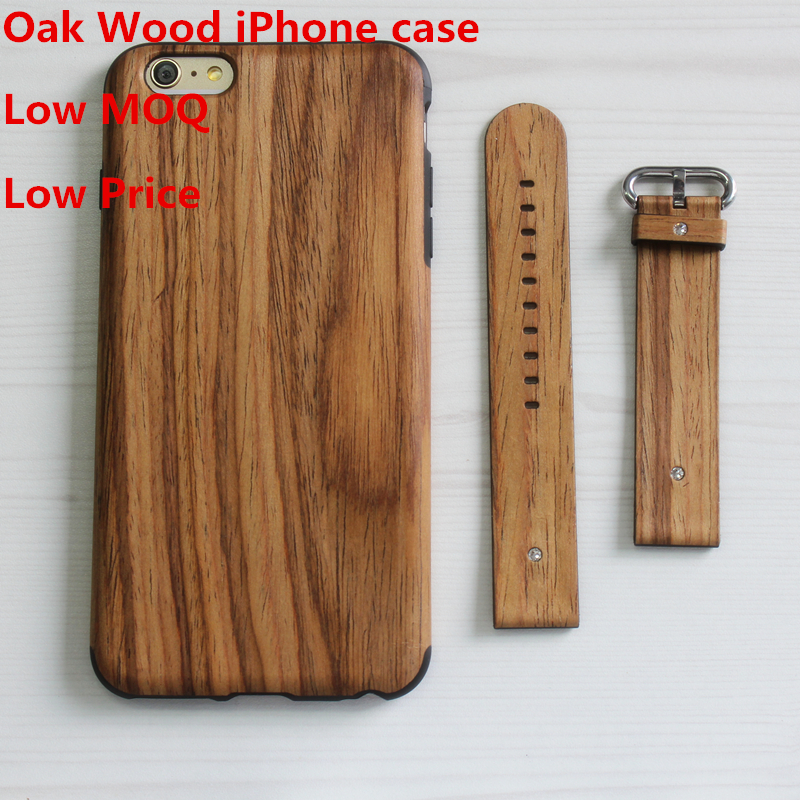 2016 New Arrival Eco-freindly Oak wood case for iphone 6 case wood